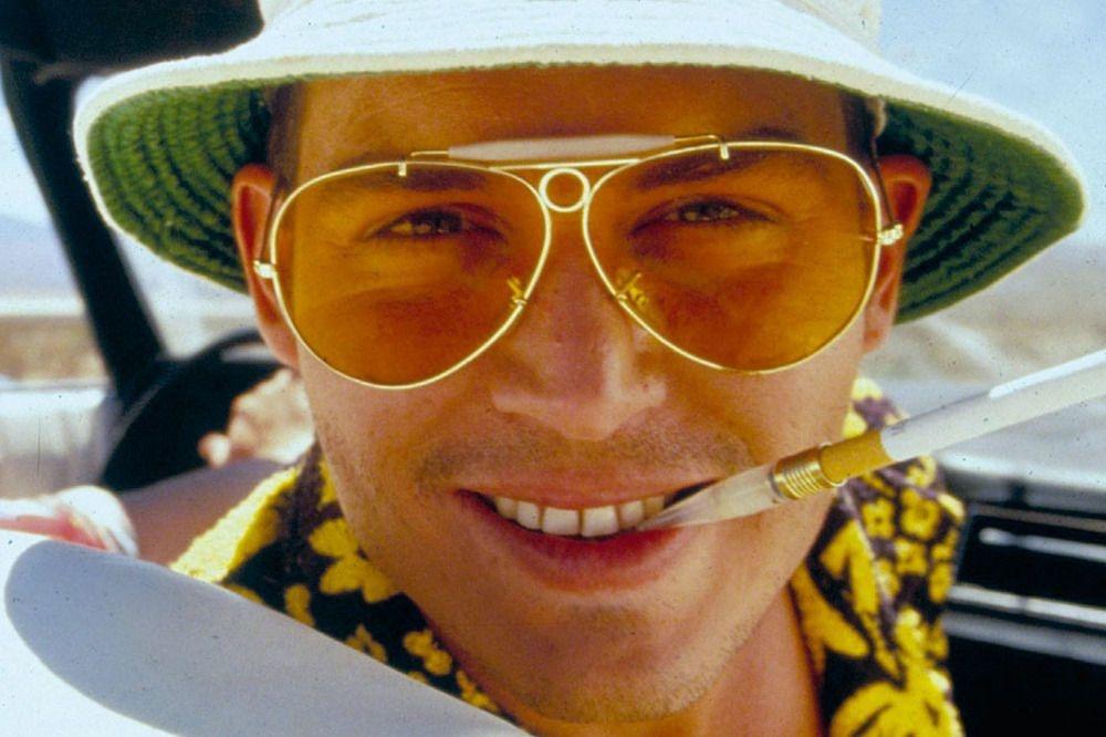 Fear and Loathing in Las Vegas 1998 Johnny Depp dans de Terry Gilliam: lunettes teintées pour délires hallucinogènes... , Moviestore/REX Shutterstock