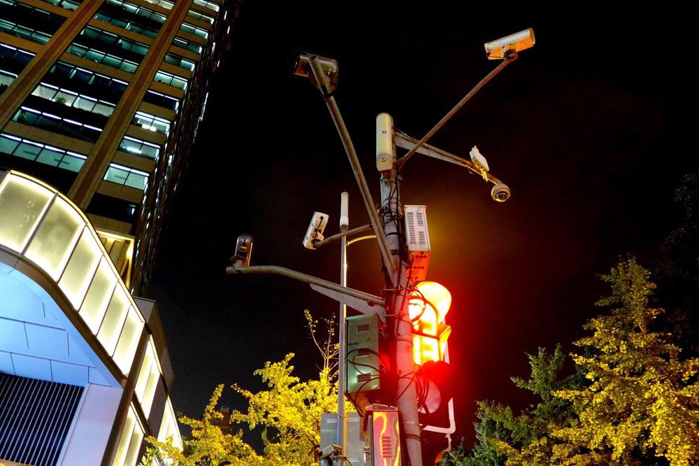 Een tros camera's in Peking, zaak is de tevredenen in het oog te houden., Maria Fialho