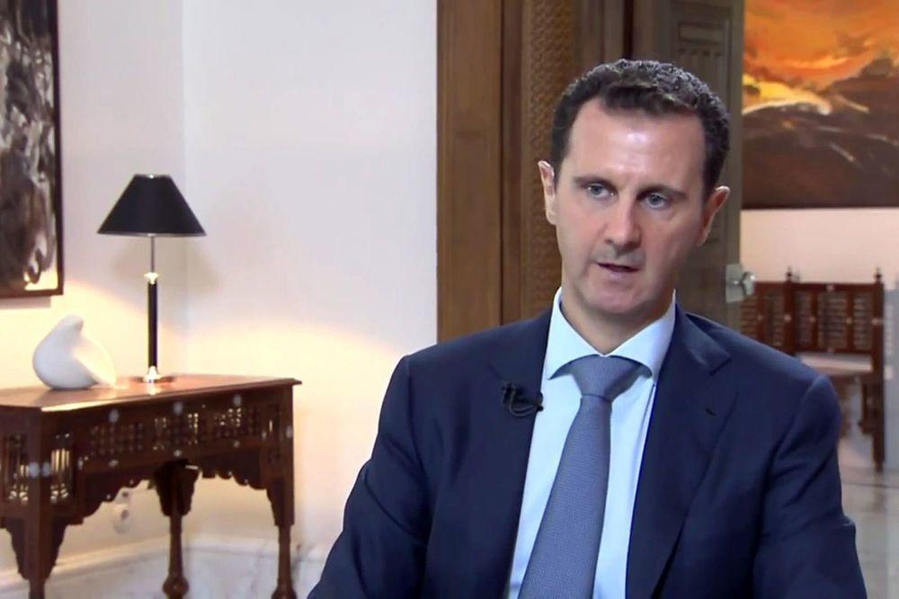 Le président syrien Bachar al-Assad, interviewé par Khabar TV le 4 octobre 2015, Belga Image