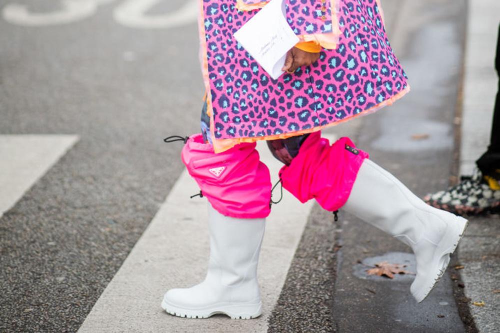 Les bottes Versace, Getty