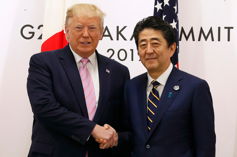 Donald Trump et Shinzo Abe, AFP