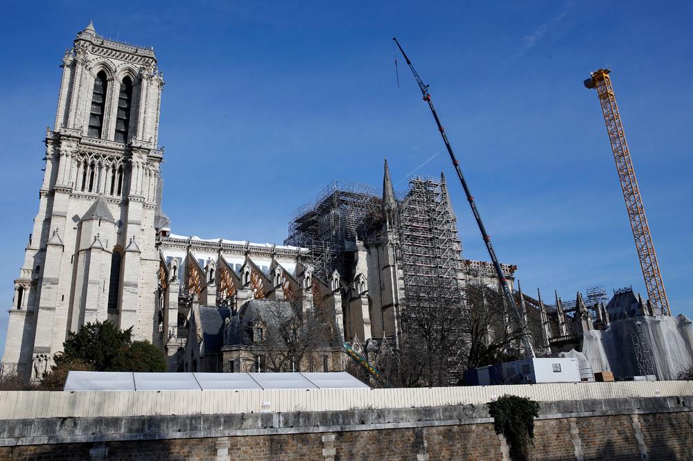 De Notre-Dame op 18 december 2019., Getty Images