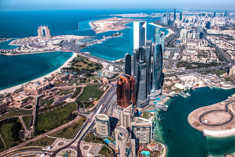 Vue aérienne d'Abu Dhabi, Getty Images