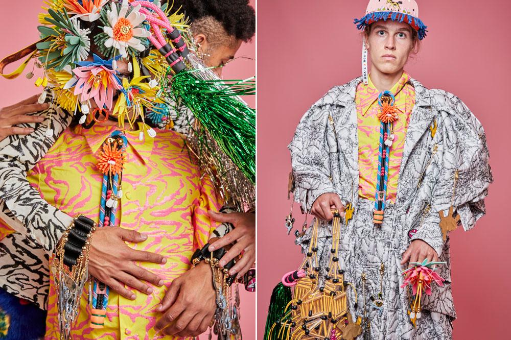 Enkele kledingstukken uit de winnende collectie van Tom Van Der Borght, Tom Van Der Borght