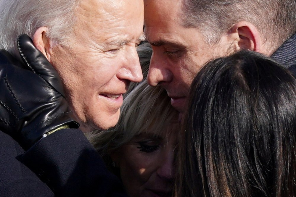Joe, Jill, Hunter et Ashley Biden lors de l'investiture , AFP