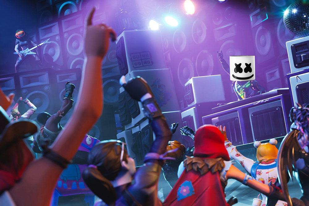 Een concert in Fortnite.