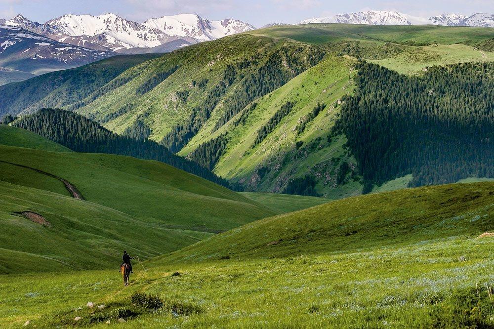 La vallée de Turgen, au Kazakhstan., sdp