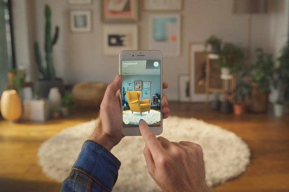 Depuis 2017, Ikea expérimente la réalité augmentée., GF IKEA