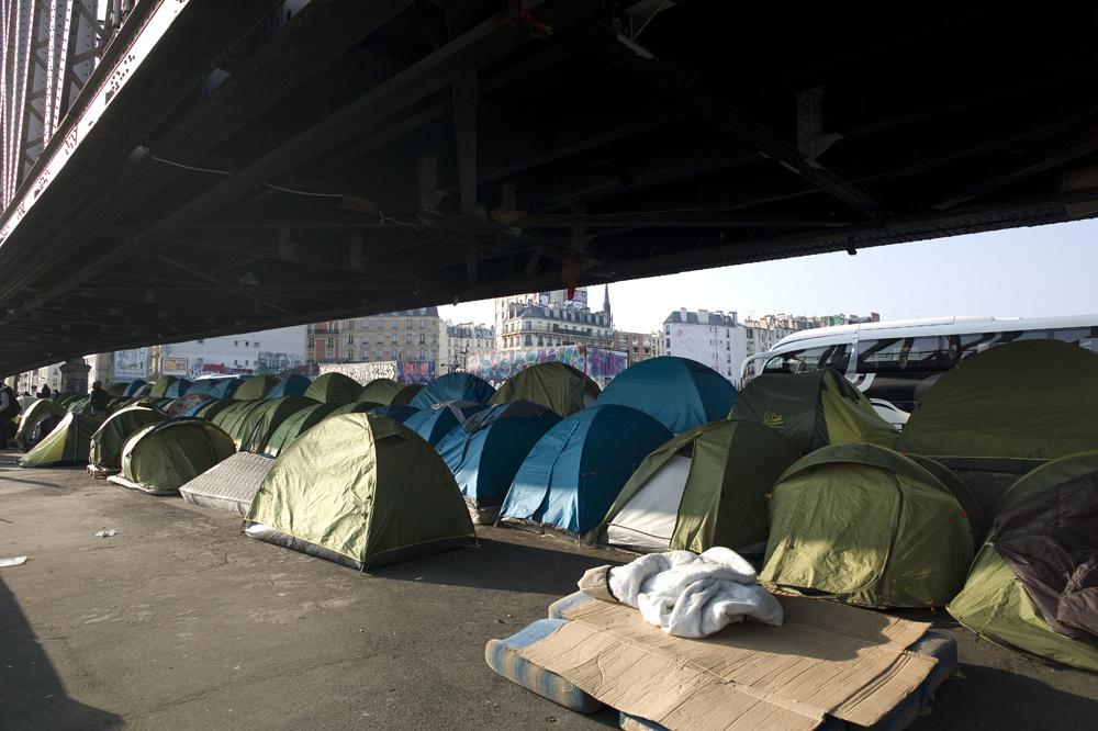 Campement de migrants, Porte de la Chapelle à Paris, Getty Images