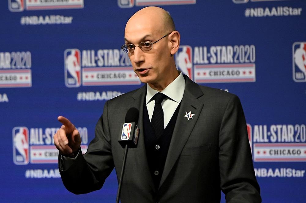 NBA-baas Adam Silver wacht nog enkele moeilijke maanden., GETTY