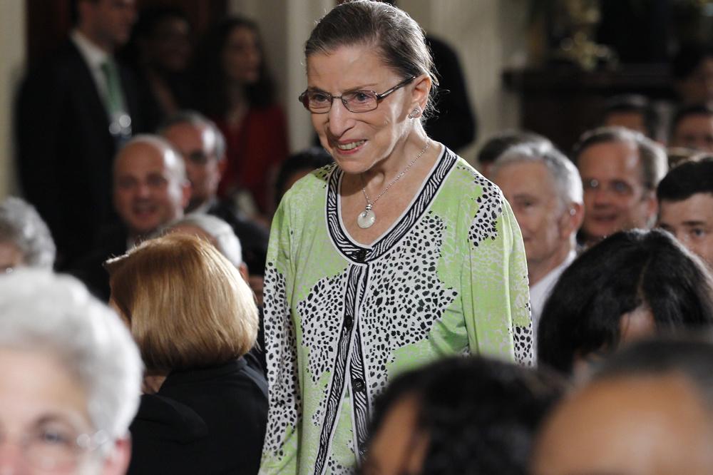 Ruth Bader Ginsburg en 2010, Reuters