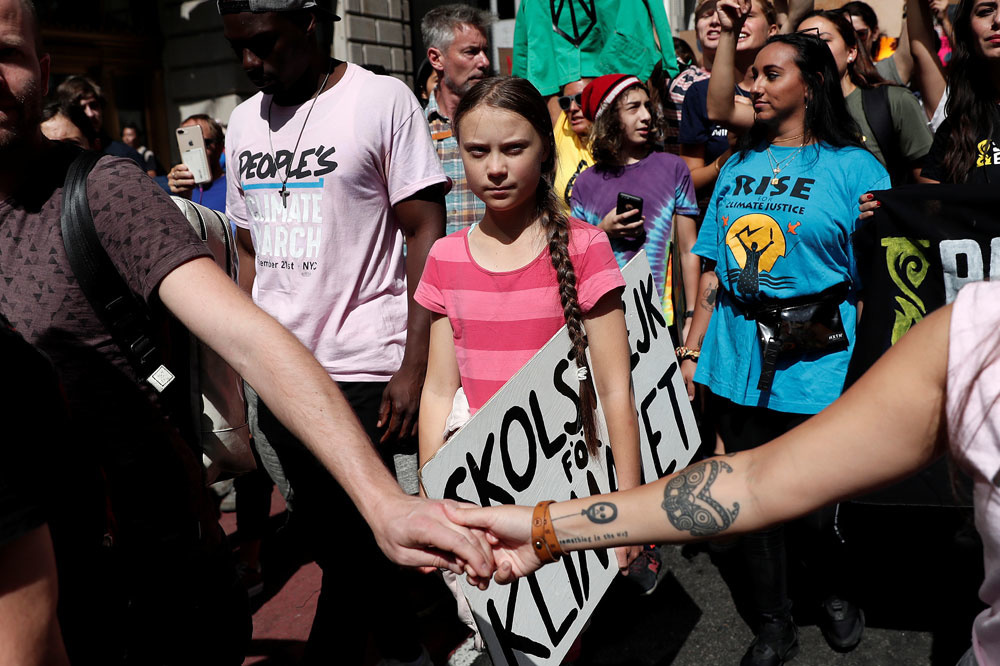 Greta Thunberg in New York in 2019, Reuters