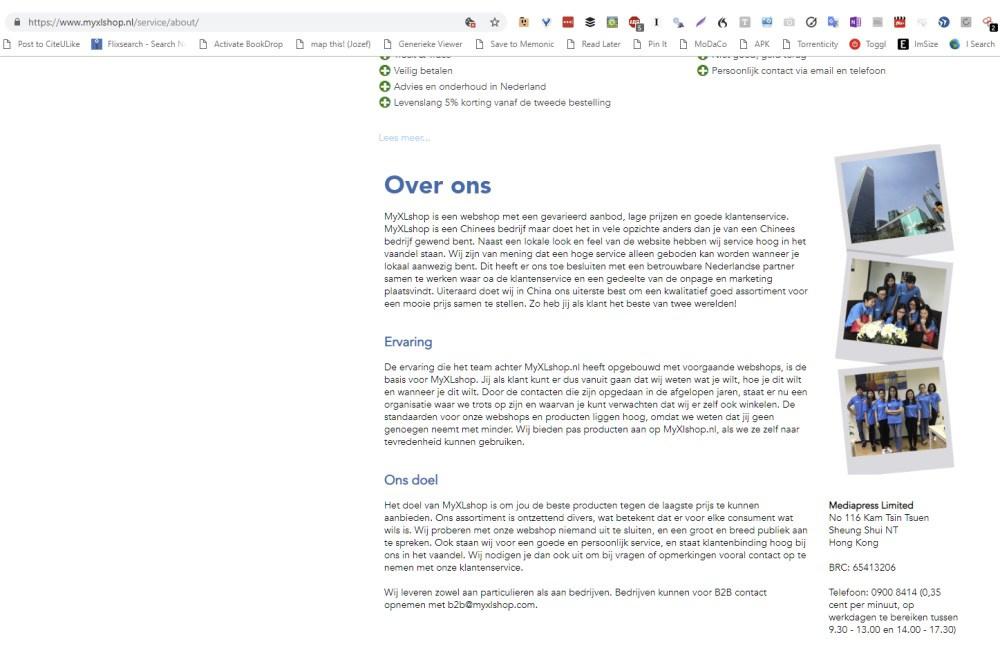 Deze op het eerste zicht Nederlandse webwinkel blijkt vanuit Hong Kong te verkopen. Controleer altijd eerst de informatiepagina!, DTL BVBA