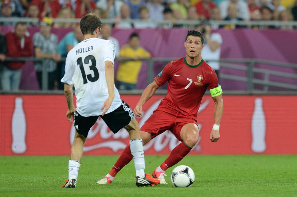 En 2012, Thomas Müller et Cristiano Ronaldo emmèneront leurs équipes jusqu'au stade de la demi-finale. Mais elles buteront respectivement sur l'Italie et l'Espagne., iStock