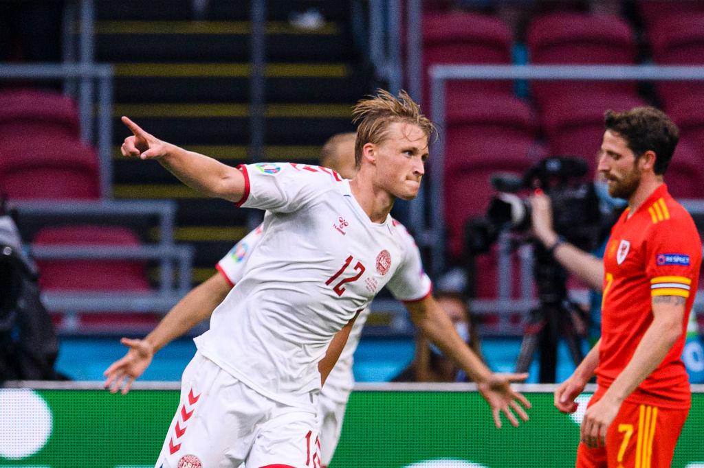 Kasper Dolberg, l'attaquant qui aime marquer des doublés avec le Danemark., iStock