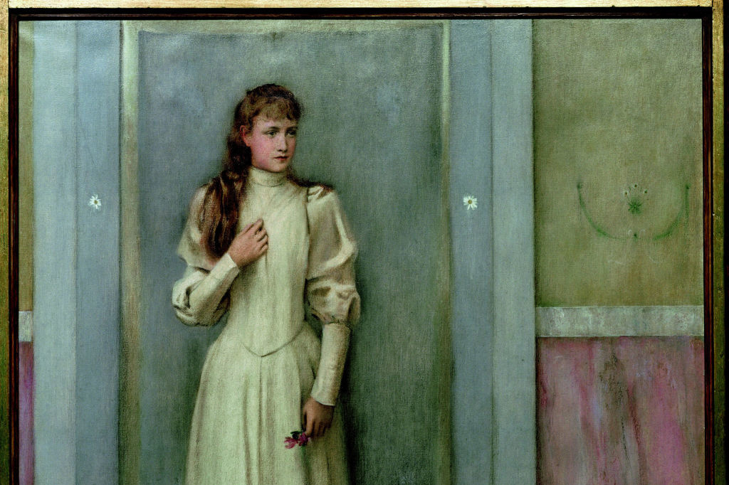 Portret van Marguerite Khnopff, 1896, Getty Images