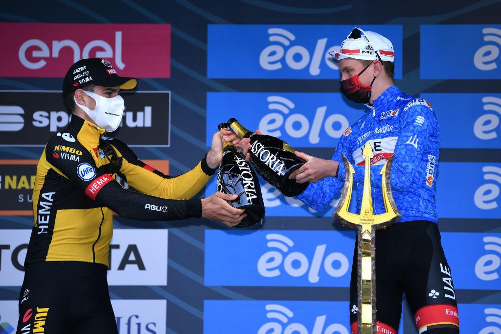 Van Aert pointe Pogacar (ici sur Tirreno Adriatico) comme grand favori pour la médaille d'or., iStock
