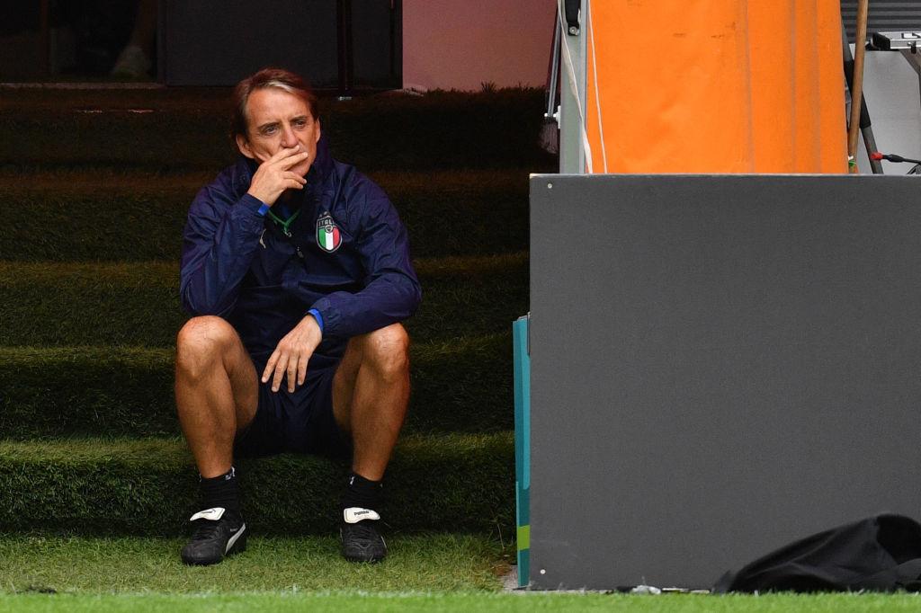 Roberto Mancini pense à son plan pour contrer l'Espagne., iStock