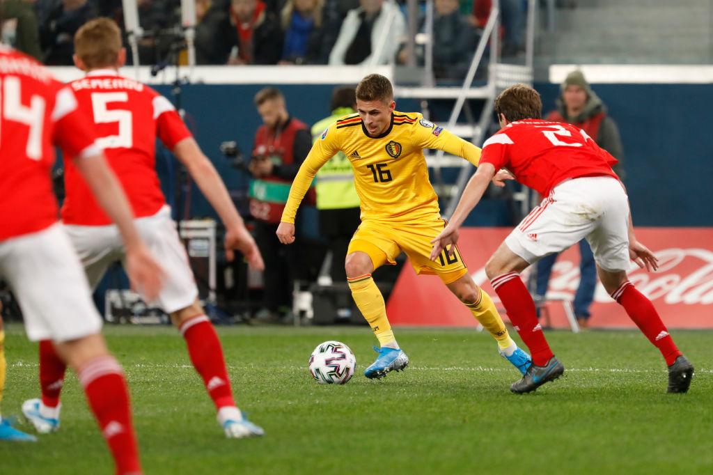 Thorgan Hazard avait marqué en match de qualification contre la Russie. C'était à Saint-Pétersbourg., iStock