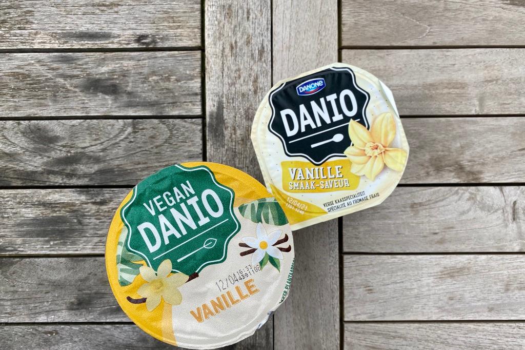 Vegan vanilleyoghurt vs de originele vanilleyoghurt van Danio, NBM