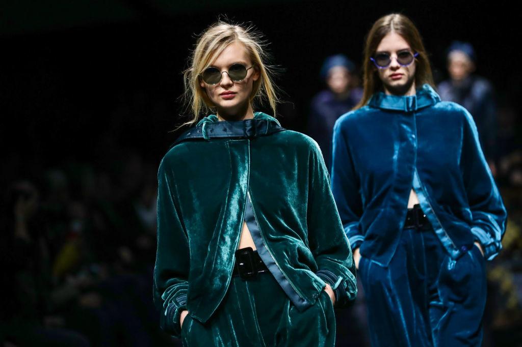 Show van Emporio Armani AW2020 tijdens Milan Fashion Week, Getty