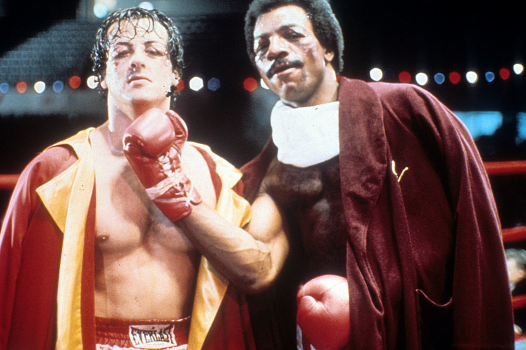 """Sylvester Stallone et Carl Weathers dans """"Rocky"""", iStock"""