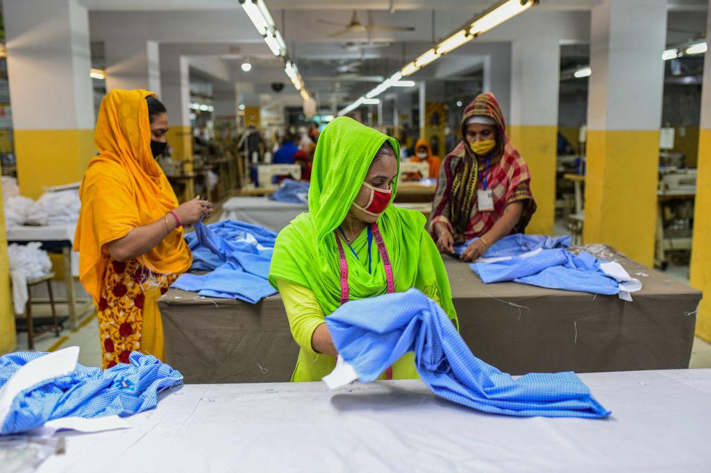 Kledingarbeiders Bangladesh, Getty