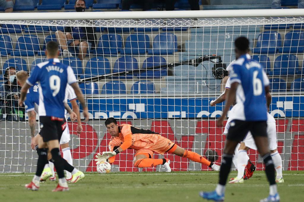 Courtois s'est employé pour la première de la saison contre le Deportivo Alavès., iStock