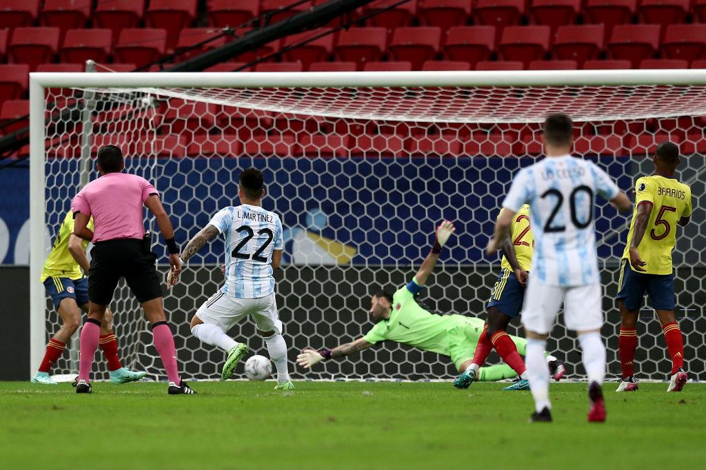 Compagnon habituel de Romelu Lukaku en pointe à l'Inter, Lautaro Martinez avait ouvert le score pour l'Argentine., Getty Images/iStock