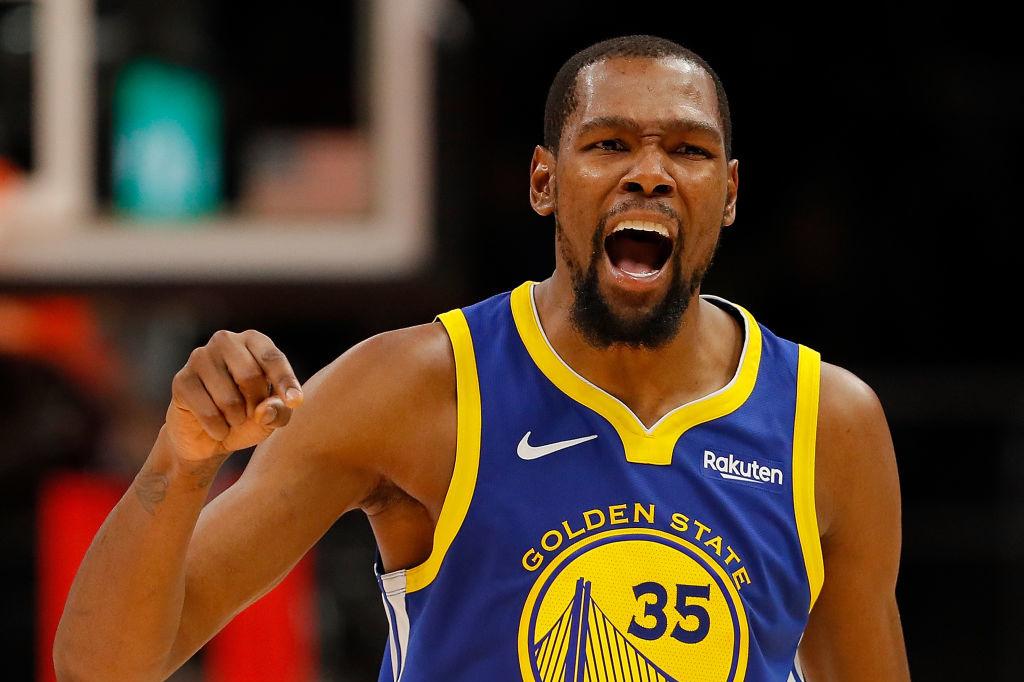 Kevin Durant lors du match Golden State Warriors vs Atlanta Haws, iStock