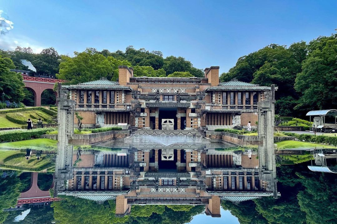 Reconstructie van Imperial Hotel in Meji Mura Museum, Instagram @mejimura