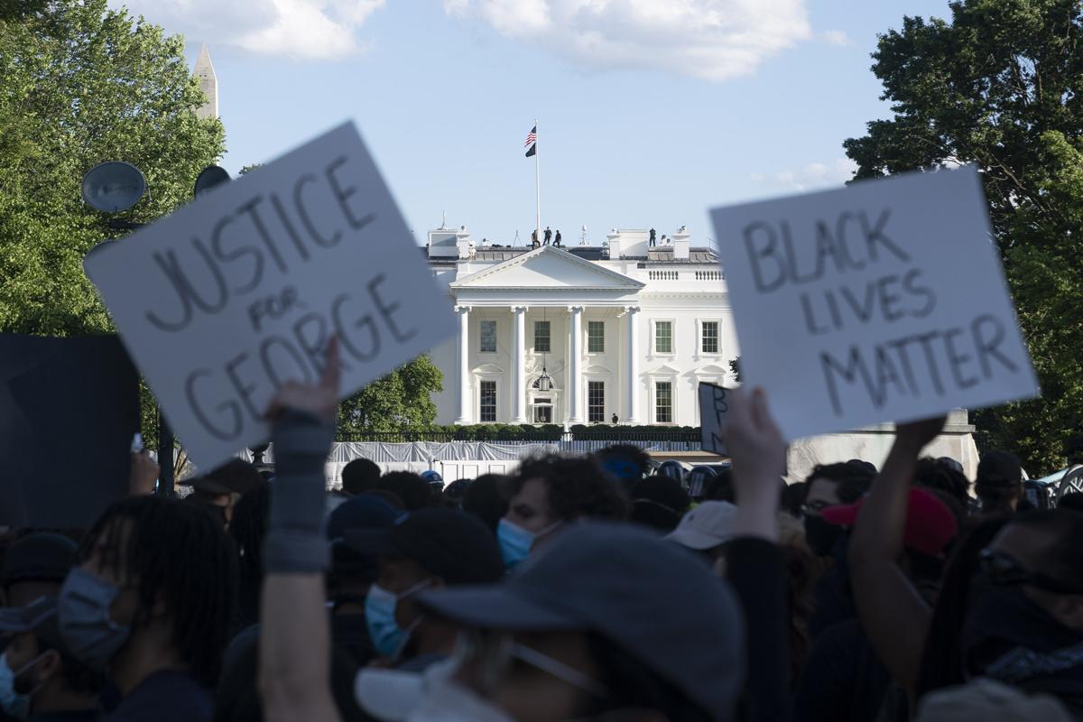 Betoging aan het Witte Huis in Washington D.C., Belga Image