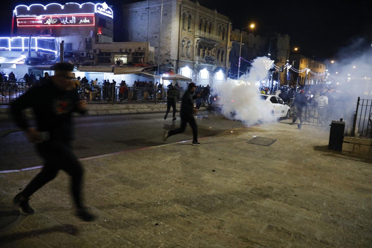 Zware rellen nabij Damascus Gate in Jeruzalem, 22 april 2021., Belga Image