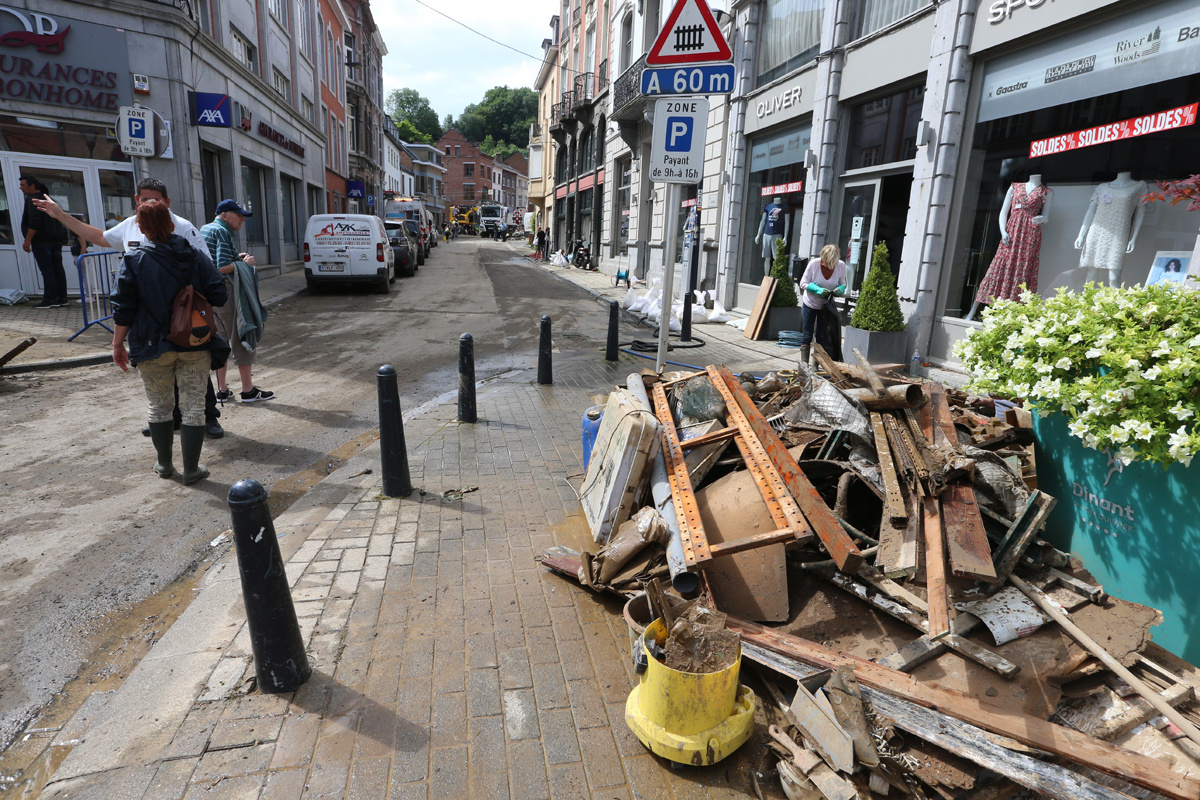 Dinant op 25 juli 2021., Belga