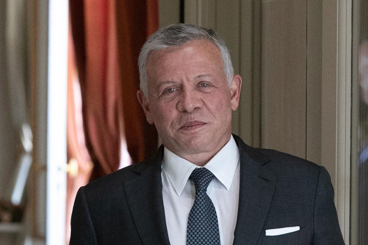 Koning Abdullah II van Jordanië, belga