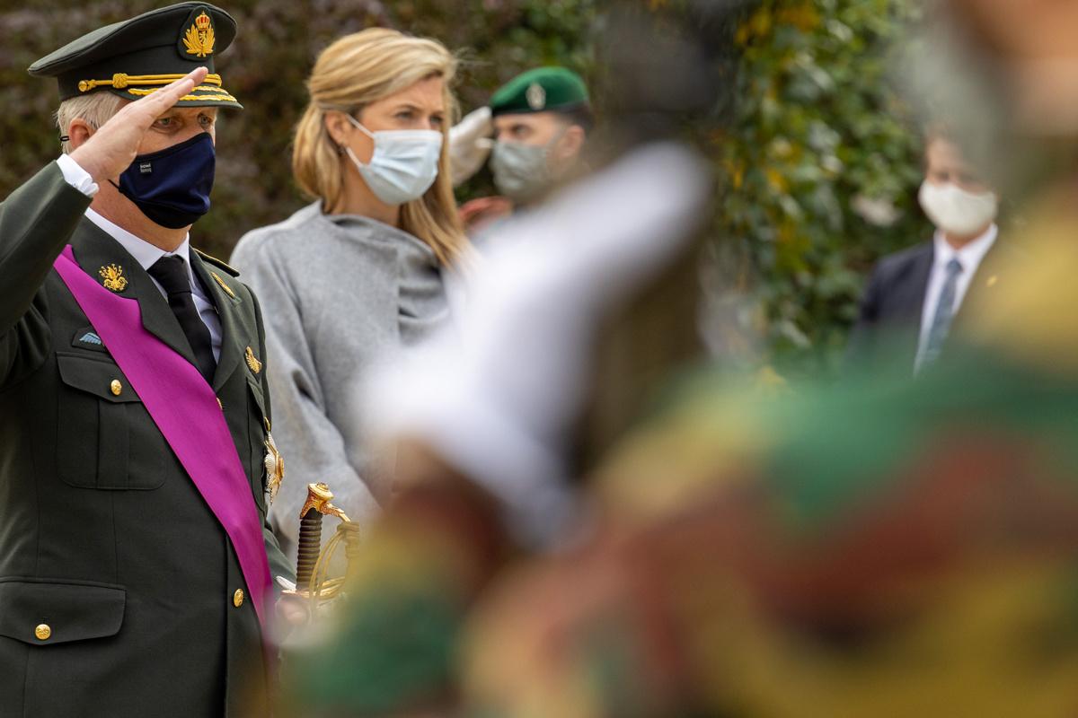 Koning Filip en Annelies Verlinden (CD&V) op 11 november 2020 te Brussel., Getty Images
