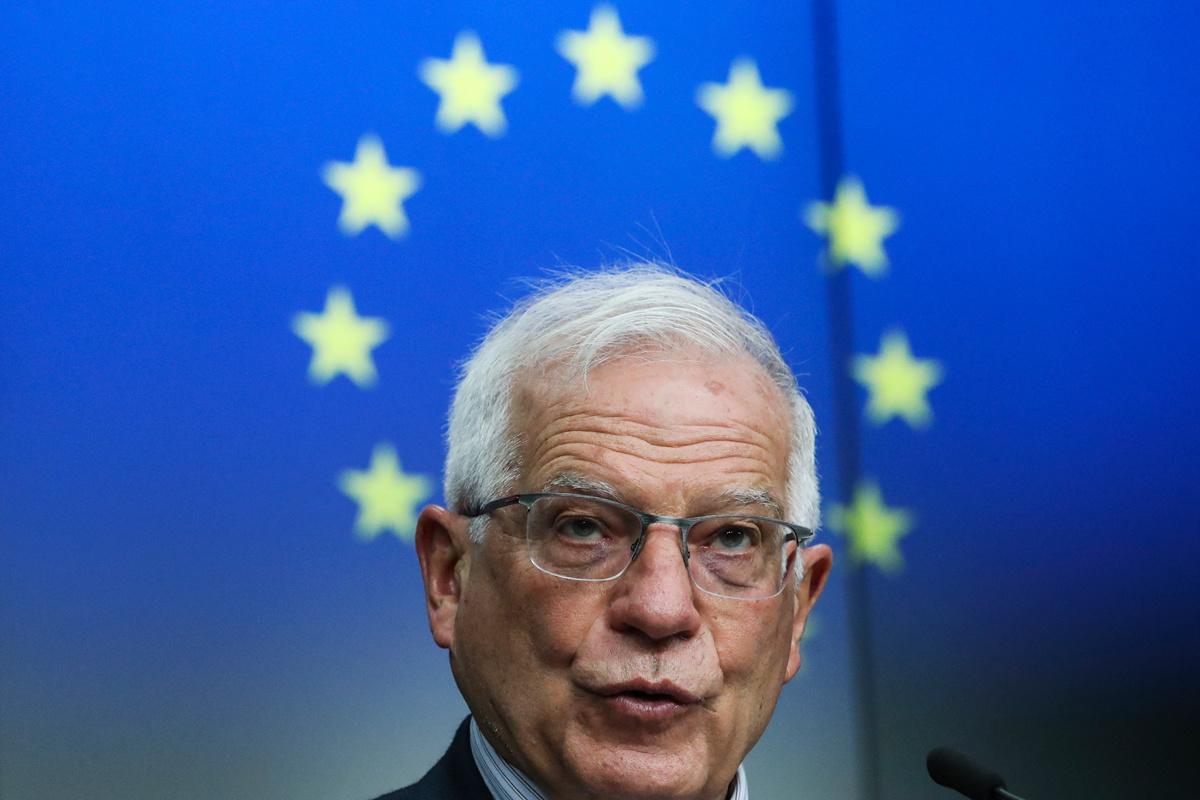 Josep Borrell, de hoge vertegenwoordiger van het Europees buitenlands beleid.