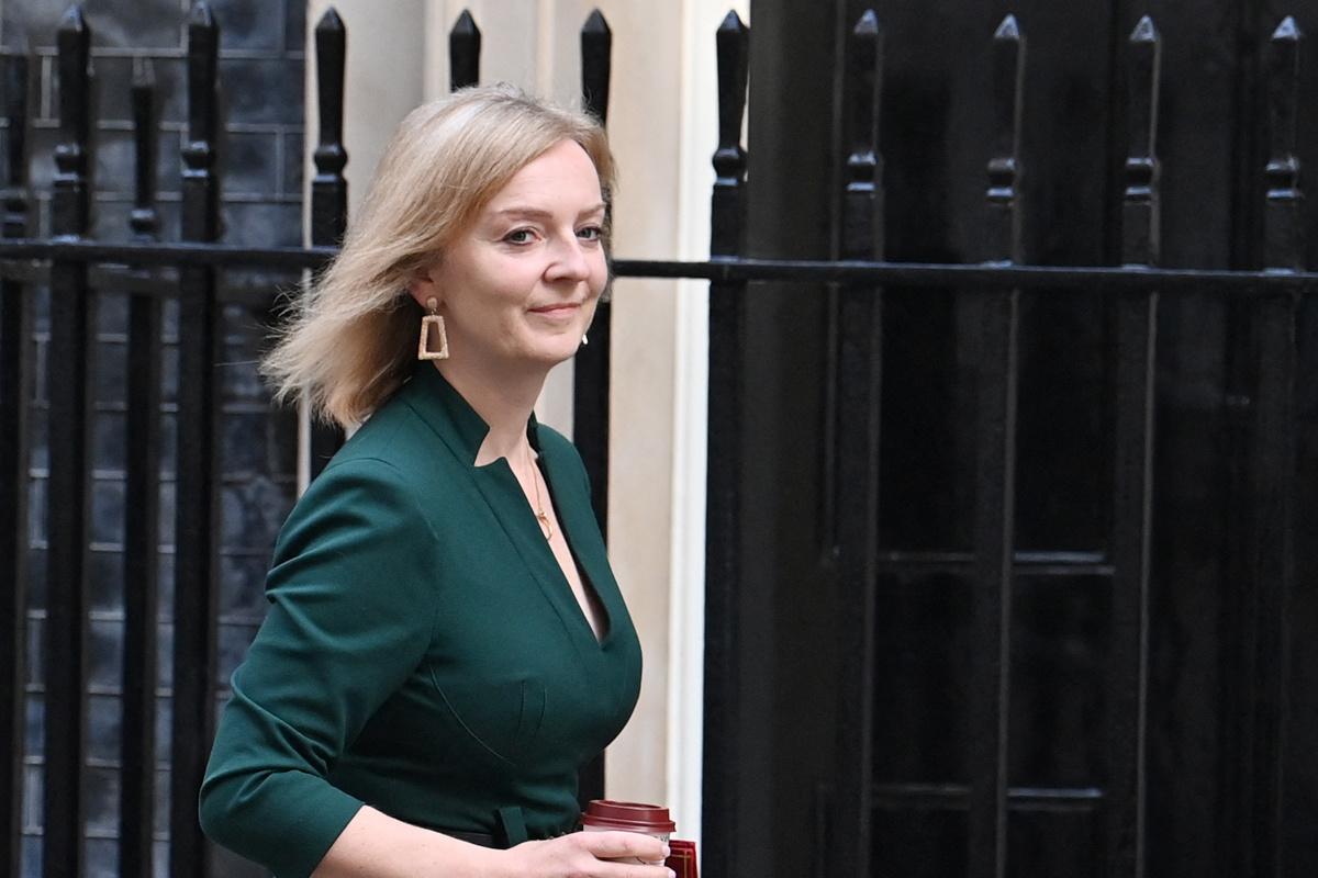De Britse minister van Defensie Liz Truss., Belga Image
