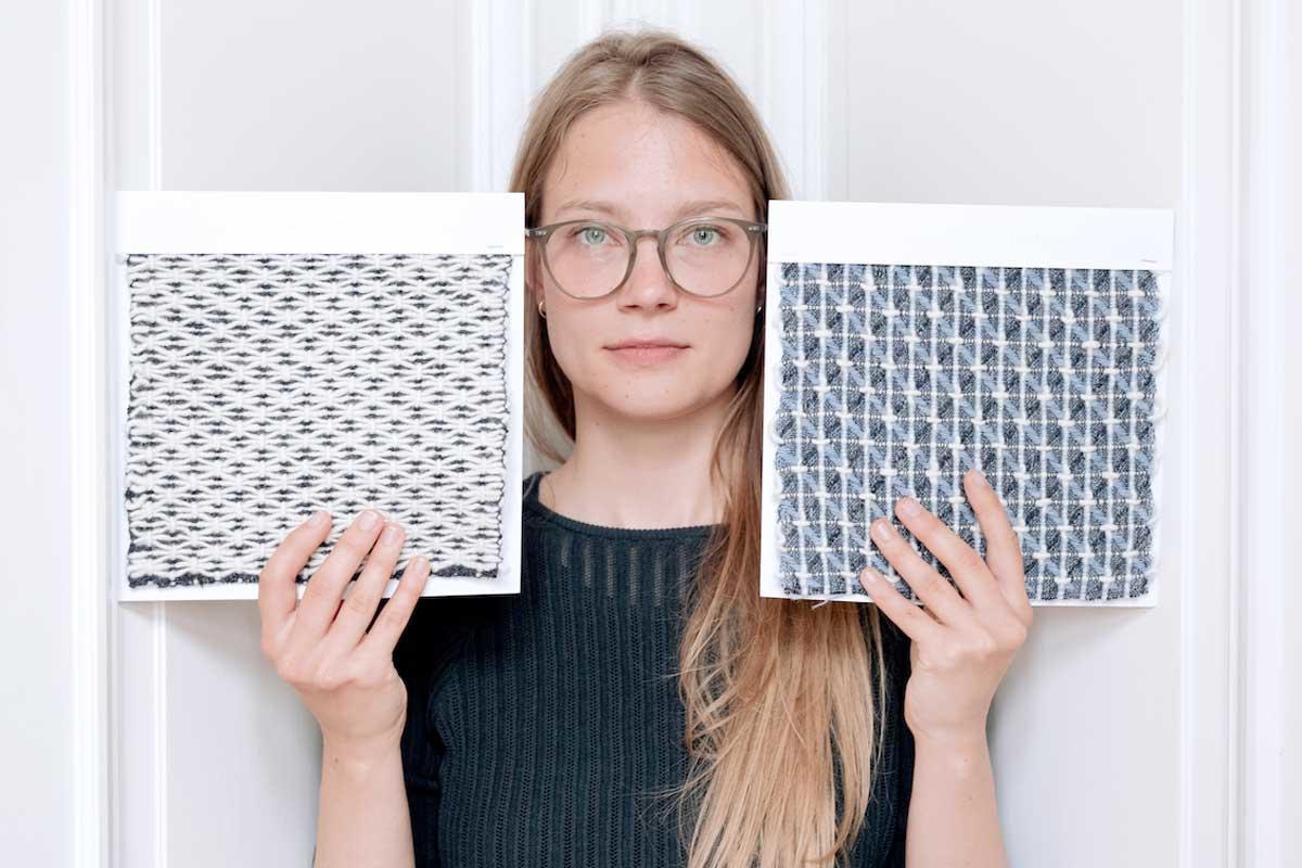 Esther Van Schuylenbergh ontwikkelde een op zichzelf staande akoestische wand in 3D textiel, Gf