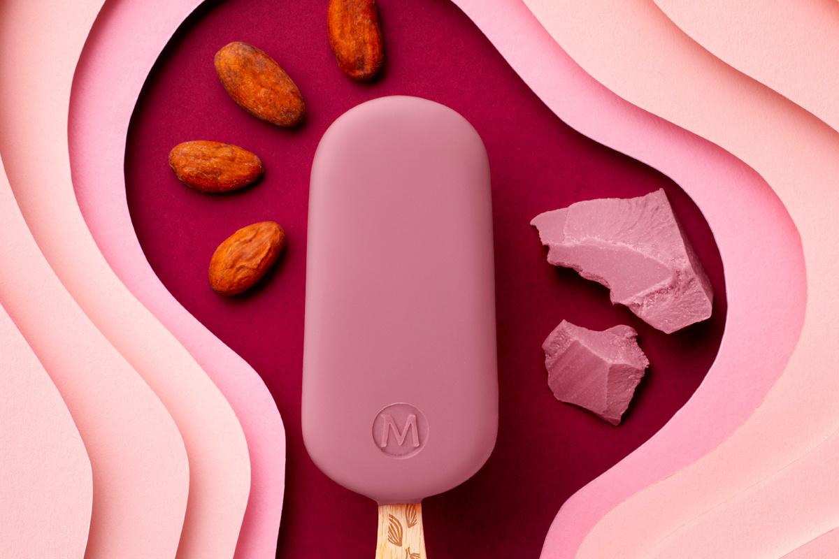 Magnum Ruby: of het ijsje anders zal smaken dan frambozenijs zal een smaaktest moeten uitwijzen, GF