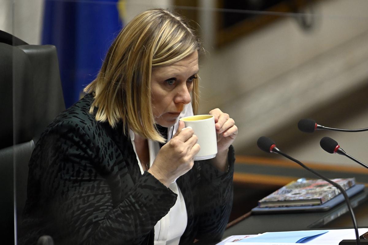 Éliane Tillieux (PS) op 15 december 2020., Belga