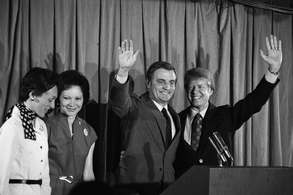 Walter Mondale en Jimmy Carter in 1976., Getty Images