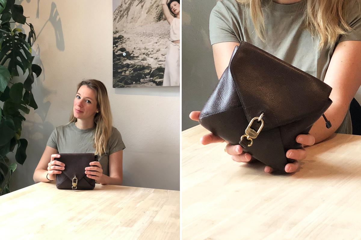 Saskia met haar vintage Delvaux-tas, GF