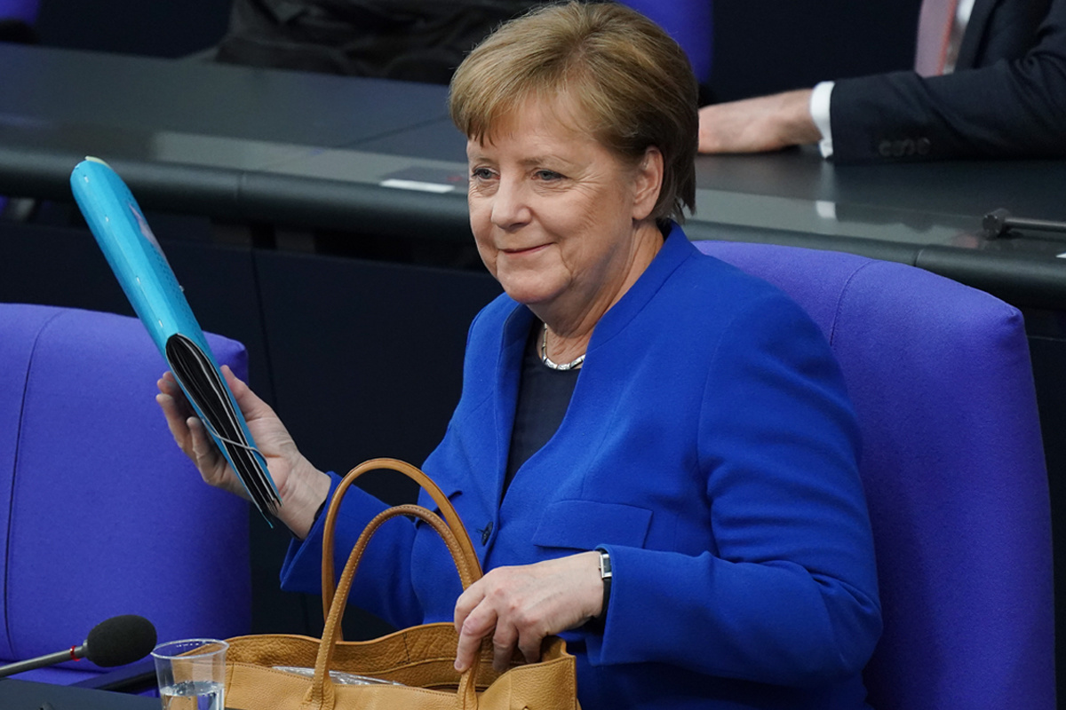 Angela Merkel op 13 mei 2020., Getty Images