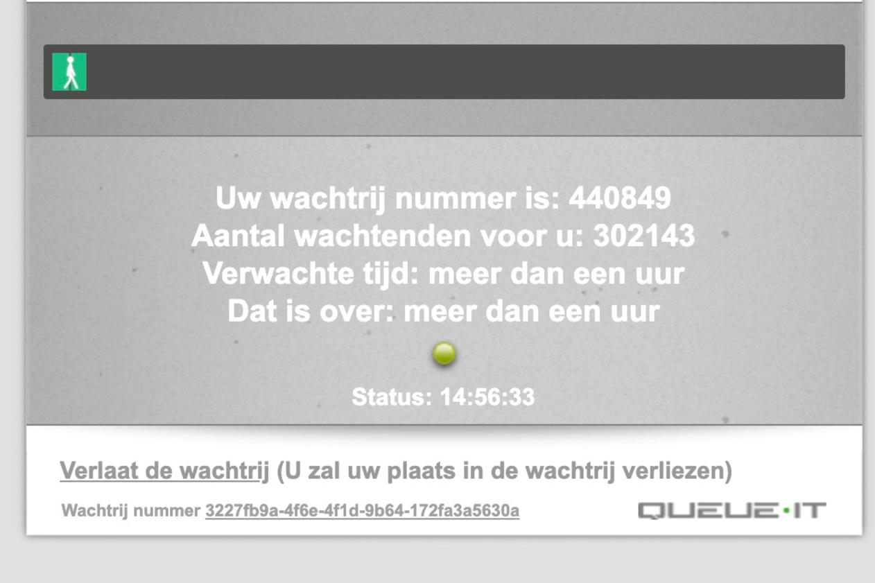 De situatie op de Qvax-website omstreeks 15u00 (dinsdag 6 april 2021)., MvdV