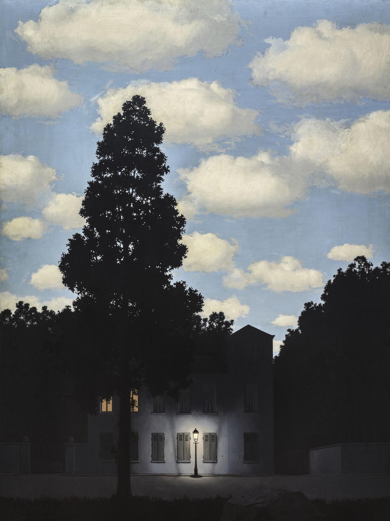 René Magritte, L'Empire des Lumières, 1953-54. Collezione Peggy Guggenheim, Venezia, René Magritte, by SIAE 2019