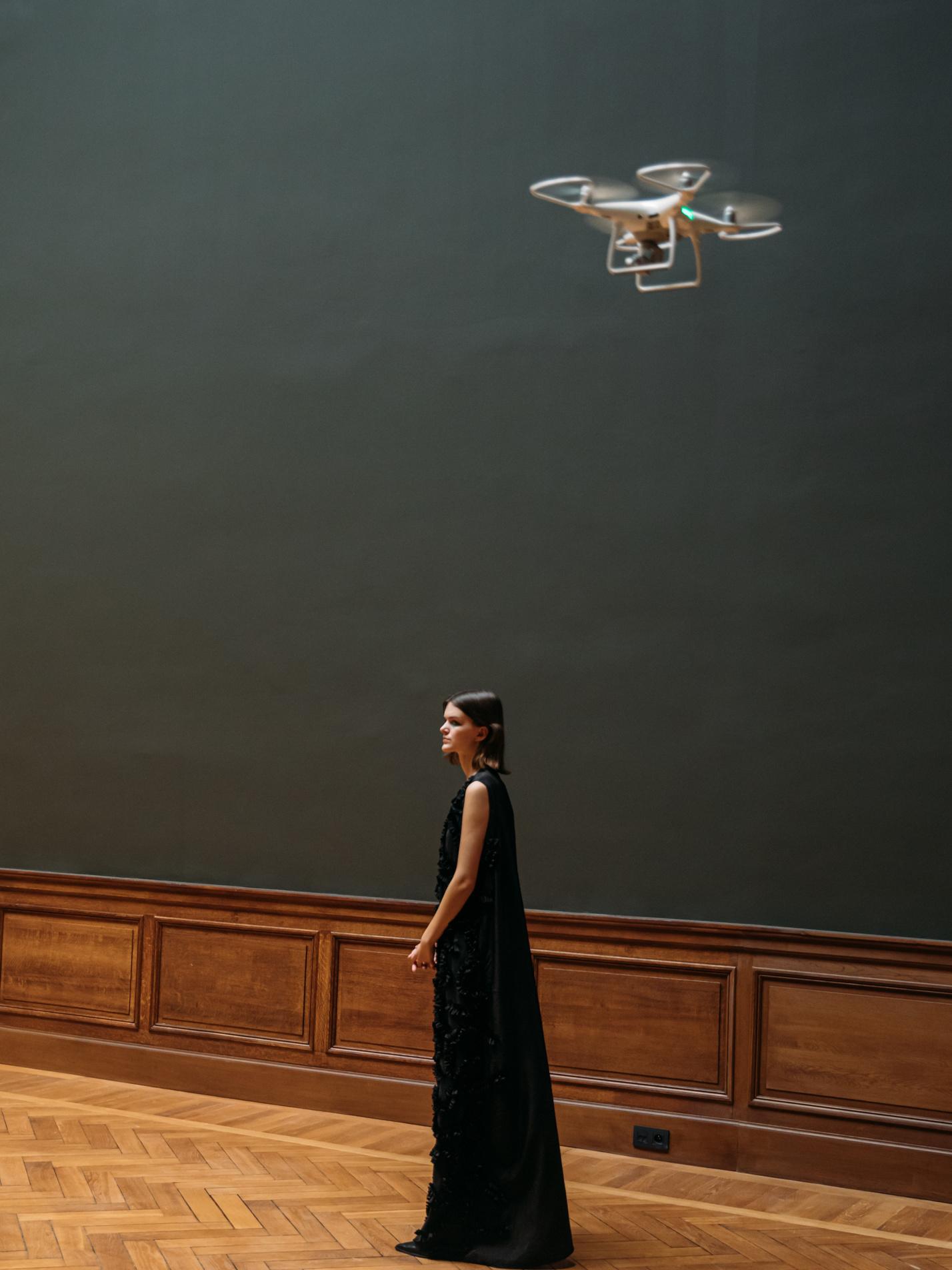Voor het filmen werd er onder andere beroep gedaan op een drone, Klaartje Lambrechts