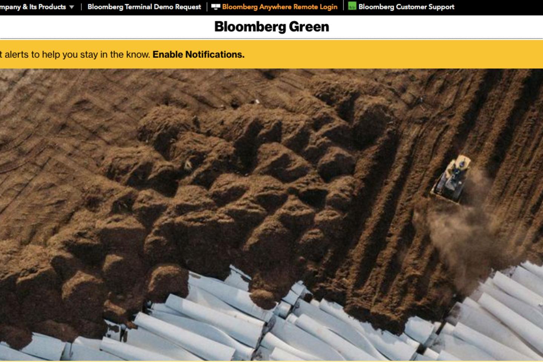 Screenshot Bloomberg, Bloomberg