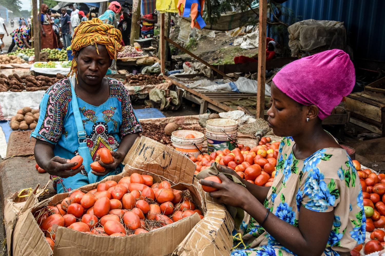 Un marché en Tanzanie.