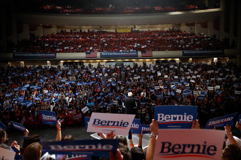 meeting Bernie Sanders au Nevada, Reuters